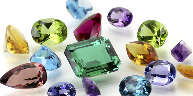 Real Gems Including Sapphire, Amethyst, Emerald, Ruby, Tanzanite, Citrine, Tourmaline, Peridot, Aquamarine, Topaz and Blue Zircon.