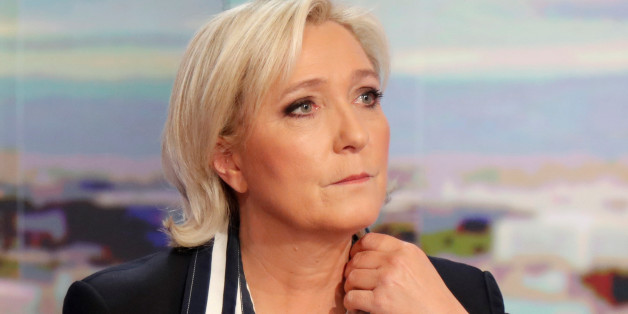 Marine Le Pen, French National Front (FN) candidate for 2017 presidential election, poses prior to an interview on the prime time evening news broadcast of French TV channel TF1, in Boulogne-Billancourt, near Paris, France, May 2, 2017. REUTERS/Charles Platiau