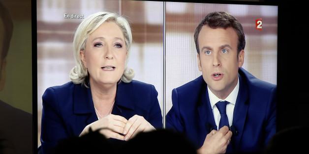 Macron und Le Pen duellierten sich am Mittwochabend im französischen Fernsehen