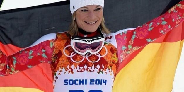 In Sochi holte die Ski-Alpin Läuferin Olympia-Gold für Deutschland.