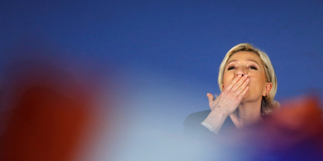 Marine Le Pen, French National Front (FN) political party leader and candidate for French 2017 presidential election, attends a political rally in Arcis-sur-Aube, near Troyes, France April 11, 2017. REUTERS/Benoit Tessier