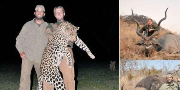 도널드 트럼프 미국 대통령의 아들들이 짐바브웨에서 사냥한 뒤 남긴 인증샷이 논란이 되고 있다
