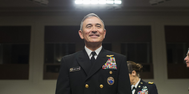 UNITED STATES - APRIL 27: Navy Adm. Harry Harris Jr., commander of the U.S. Pacific Command, arrives to testify at a Senate Armed Services Committee hearing in Dirksen Building titled 'United States Pacific Command and United States Forces Korea,' on April 27, 2017. (Photo By Tom Williams/CQ Roll Call)