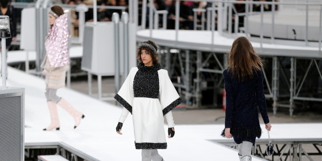 Models present creations by German designer Karl Lagerfeld as part of his Fall/Winter 2017-2018 women's ready-to-wear collection for fashion house Chanel at the Grand Palais during Fashion Week in Paris, France March 7, 2017. REUTERS/Benoit Tessier
