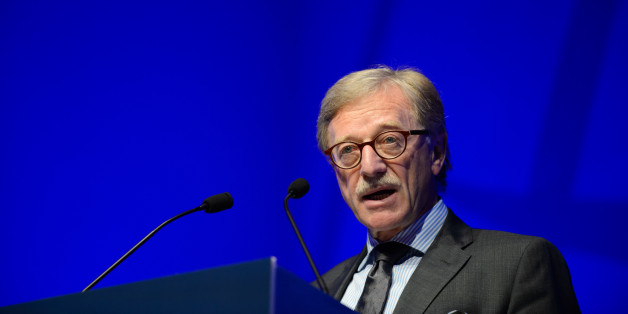 Yves Mersch, member of the executive board of the European Central Bank (ECB), speaks during the Institute of International Finance (IIF) Spring Membership Meeting in Tokyo, Japan, on Monday, May 8, 2017. Over 500 participants from around the globe gather for the 2-day meeting to discuss the critical issues in the financial industry. Photographer: Akio Kon/Bloomberg via Getty Images