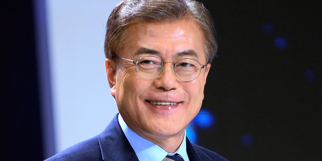 SEOUL, SOUTH KOREA - MAY 2: Moon Jae-in, the presidential candidate of the Democratic Party of Korea poses for photograph ahead of a televised presidential debate on May 2, 2017. South Korean voters will head to the polls to replace ousted leader Park Geun-hye on May 9. (Photo by Kim Min-Hee-Pool/Getty Images)