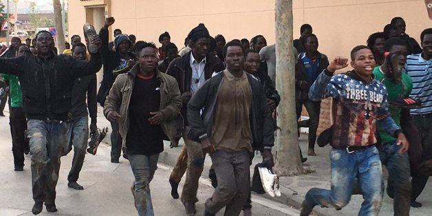 Une centaine de migrants a réussi à pénétrer dans Mellila.