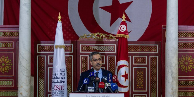 TUNIS, TUNISIA - MAY 9: President of Tunisia's electoral body, Chafik Sarsar, holds a press conference on April 3, 2017, in Tunis, Tunisia. Tunisia's election chief Chafik Sarsar has announced his resignation from Tunisia vote chief. (Photo by Amine Landoulsi/Anadolu Agency/Getty Images)