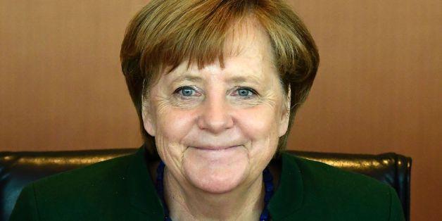 German Chancellor Angela Merkel smiles at the opening of the opening of the weekly cabinet meeting on May 10, 2017 at the Chancellery in Berlin. / AFP PHOTO / Tobias SCHWARZ        (Photo credit should read TOBIAS SCHWARZ/AFP/Getty Images)