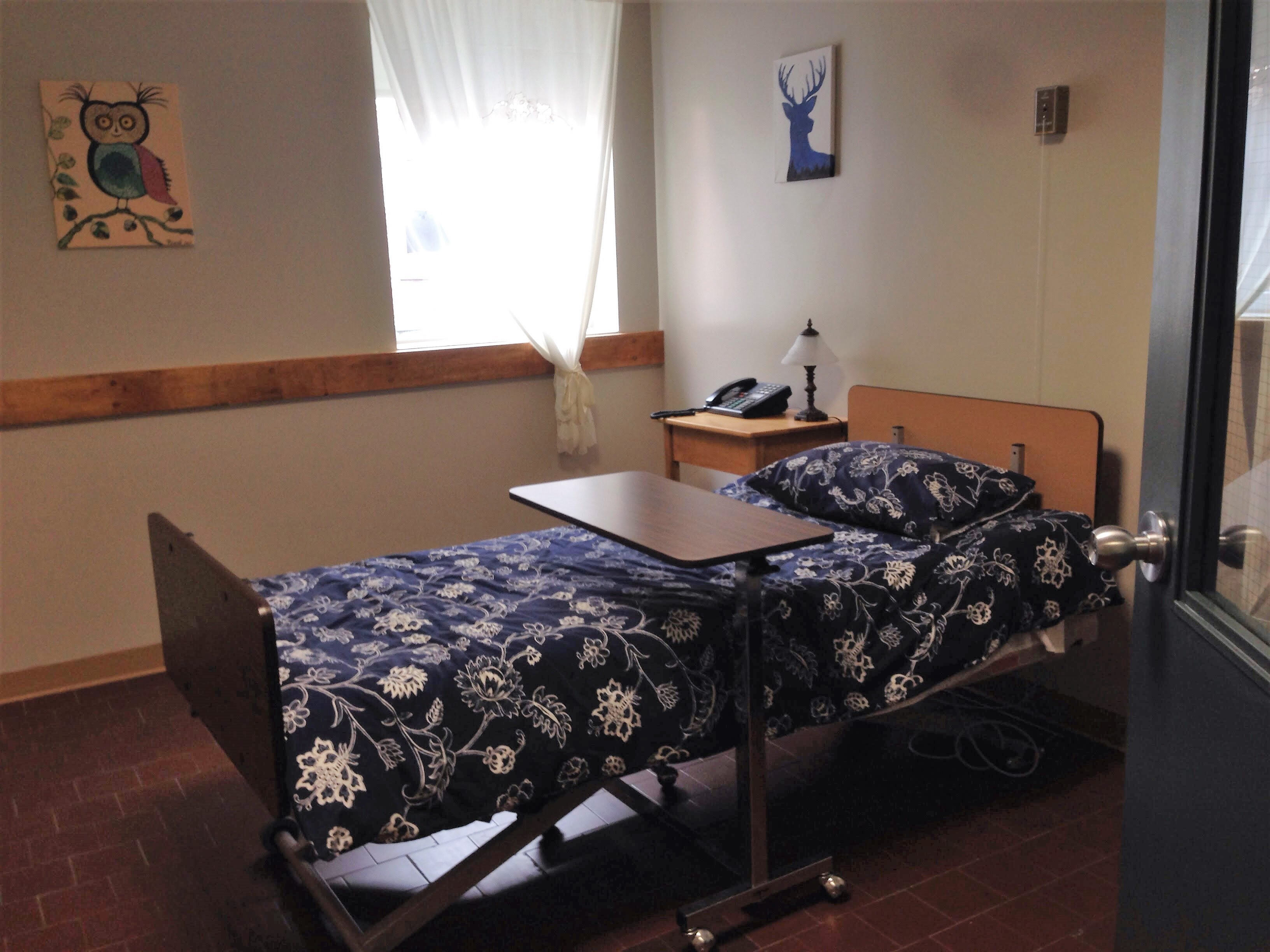 palliative care room homeless