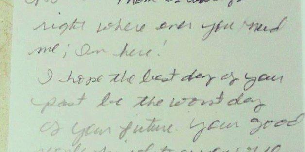 Der Brief veränderte ihr Leben.