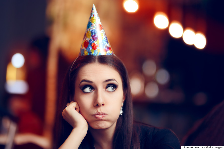 woman alone at party