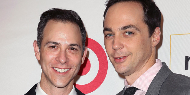 BEVERLY HILLS, CA - OCTOBER 21:  Honorary Co-Chairs Todd Spiewak (L) and Jim Parsons attend the 2016 GLSEN Respect Awards at the Beverly Wilshire Four Seasons Hotel on October 21, 2016 in Beverly Hills, California.  (Photo by David Livingston/Getty Images)