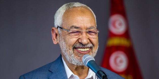 TUNIS, TUNISIA - MARCH 10: Leader of Tunisias Ennahda movement, Rached Ghannouchi speaks during an event named 'Tunisians.. Everbody is against violence' during the International Women's Day in Tunis, Tunisia on March 10, 2017. (Photo by Amine Landoulsi/Anadolu Agency/Getty Images)