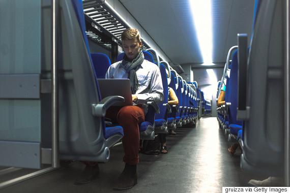 alone in train