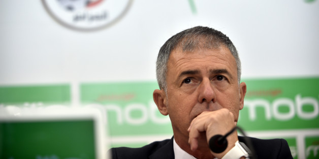 Spanish coach Lucas Alcaraz attends a press conference on April 19, 2017, upon being announced as the new head coach for the Algerian national team.Alcaraz had previously coached Spanish sides Granada, Levante and Recreativo de Huelva. / AFP PHOTO / RYAD KRAMDI        (Photo credit should read RYAD KRAMDI/AFP/Getty Images)