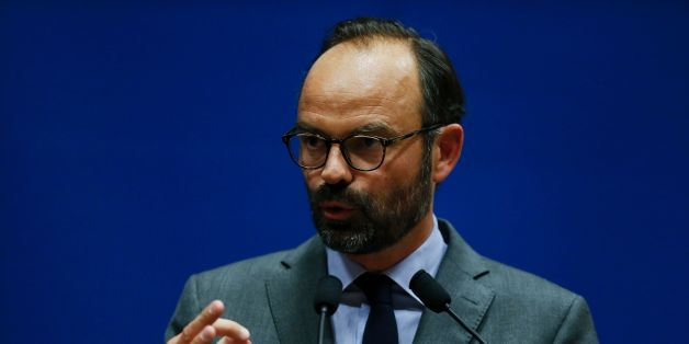 Mayor of Le Havre Edouard Philippe presents the candidates for the 'La Republique en marche' party ahead of the June parliamentary elections (legislative) on May 11, 2017, in Le Havre, northwestern France. / AFP PHOTO / CHARLY TRIBALLEAU        (Photo credit should read CHARLY TRIBALLEAU/AFP/Getty Images)