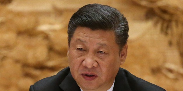 BEIJING, CHINA - MAY 15: (RUSSIA OUT) Chinese President XI Jinping speaks at the roundtable plenary meeting during the Belt and Road Forum for International Cooperation at the International Conference Center at Yanqi Lake on May 15, 2017 on the outskirt of Beijing, China. The Forum, running from May 14 to 15, is expected to lay the groundwork for Beijing-led infrastructure initiatives aimed at connecting China with Europe, Africa and Asia.   (Photo by Mikhail Svetlov/Getty Images)