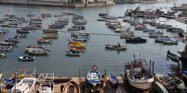ALGIERS, ALGERIA - DECEMBER 6:   A general view of the fishing harbour December 6, 2007 taken from Amilcar Boulevard in  Algiers, Algeria.  (Photo by Pascal Parrot/Getty Images)