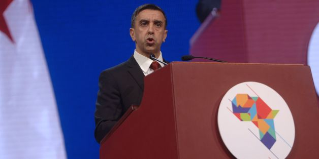 Algerian businessman and president of FCE, Ali Haddad, delivers a speech during the opening ceremony of the the African Investment and Business Forum, on December 3, 2016.More than 2,000 delegates from across Africa attended the African Investment and Business Forum, aimed at boosting the continent's economic potential. / AFP / RYAD KRAMDI / RYAD KRAMDI        (Photo credit should read RYAD KRAMDI/AFP/Getty Images)