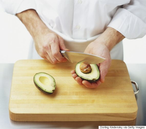 cutting avocado