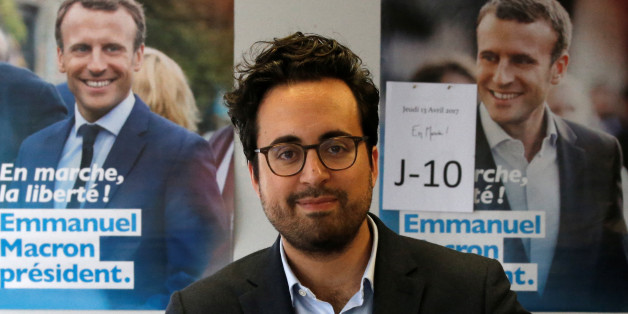 Mounir Mahjoubi, candidate in French Parliamentary elections for Macron's party and digital campaign director for Emmanuel Macron, candidate for the 2017 French presidential election of the political movement En Marche !, or Onwards !, poses at their campaign headquarters in Paris, France, April 13, 2017. Picture taken April 13, 2017.    REUTERS/Charles Platiau