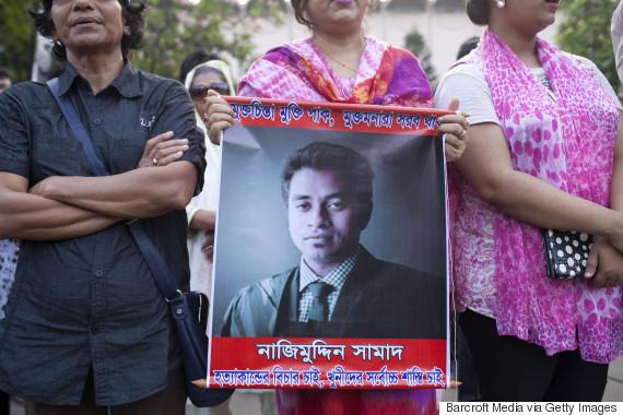 muslim blogger protest