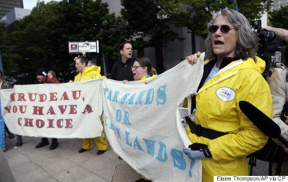 trudeau protesters washington