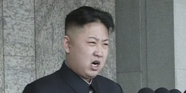 """North Korean leader Kim Jong-un speaks during a mass parade to celebrate founder Kim Il-sung's 100th birthday in Pyongyang in this still image taken from video April 15, 2012. Kim Jong-un led celebrations on Sunday to mark the centenary of the birth of his grandfather, the founder of the world's only Stalinist monarchy, """"Eternal President"""" Kim Il-sung. REUTERS/KRT via Reuters TV (NORTH KOREA - Tags: MILITARY POLITICS ANNIVERSARY) FOR EDITORIAL USE ONLY. NOT FOR SALE FOR MARKETING OR ADVERTISING"""