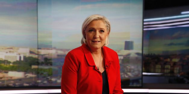 Former French presidential election candidate for the far-right Front National (FN) party Marine Le Pen poses prior to an interview on the evening news broadcast of French TV channel TF1, on May 18, 2017, in Boulogne-Billancourt, near Paris, ahead of the upcoming French legislative election.  / AFP PHOTO / POOL / FRANCOIS GUILLOT        (Photo credit should read FRANCOIS GUILLOT/AFP/Getty Images)