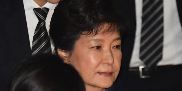 Ousted South Korean President Park Geun-hye, leaves after hearing on a prosecutors' request for her arrest for corruption at the Seoul Central District Court on March 30, 2017. REUTERS/Song Kyung-Seok/Pool