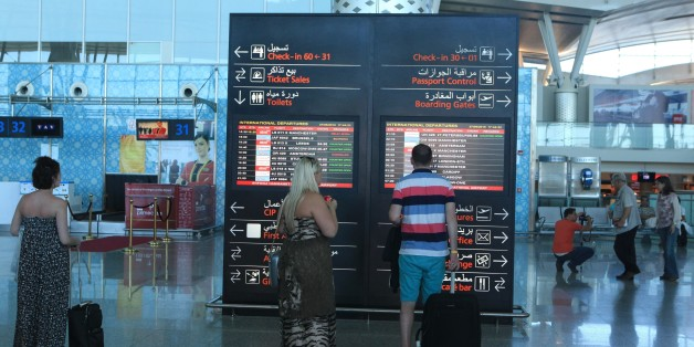 SOUSSE, TUNISIA - JUNE 27: Tourists arrive at the Enfidha International airport to leave the country after an attack on a tourist hotel in Sousse, Tunisia on June 27, 2015. At least 39 people were killed and 39 others were injured when a gunman opened fire on tourists at a popular Tunisian beach on Friday. (Photo by Yassine Gaidi/Anadolu Agency/Getty Images)