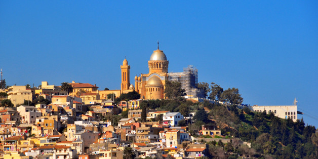 Algiers, Algeria: Our Lady of Africa Catholic basilica, built on the hill above the Bologhine area - designed by Jean Eugene Fromageau, diocesan architect of Algiers - Byzantine style - French colonial architecture