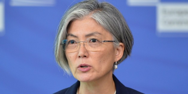 BRUSSELS, BELGIUM - MAY 26: Assistant Secretary-General for Humanitarian Affairs and Deputy Emergency Relief Coordinator Kyung-wha Kang speaks during a press conference after International Conference on the Central African Republic, in Brussels, on May 26, 2015. This conference focus on the link between short-term humanitarian challenges in the country (and region) and the challenges of medium-term resilience. The aim is to present the first results of the European Union Bekou Trust Fund as well