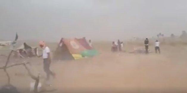 Les réfugiés syriens entre le Maroc et l'Algérie pris dans une tempête de sable