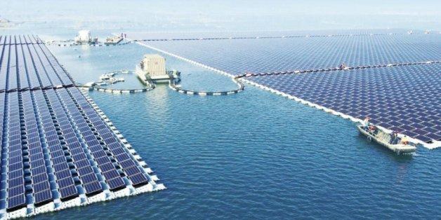 Die schwimmende Solaranlage in China revolutioniert erneuerbare Energien.