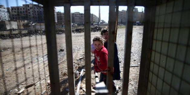 Des enfants syriens à Damas, 15 février 2017