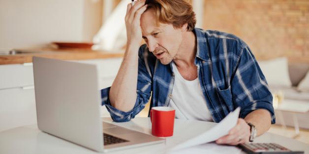 Photo of a man going through  financials problems