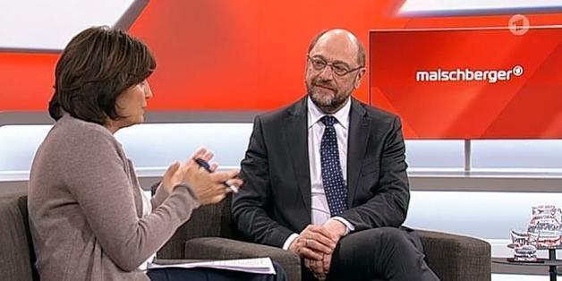 "Der SPD-Kanzlerkandidat Martin Schulz bei ""Maischberger"""