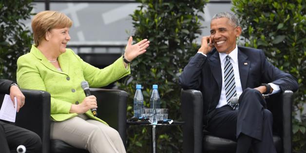Bundeskanzlerin Angela Merkel (CDU) und Ex-US-Präsident Barack Obama diskutierten auf dem Deutschen Evangelischen Kirchentag