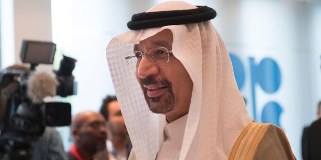 Saudi Arabias energy minister and president of the Organization of the Petroleum Exporting Countries (OPEC), Khalid al-Falih, arrives for the 172nd meeting of the OPEC countries at OPEC headquarters in Vienna, Austria, on May 25, 2017. Oil producers from inside and outside OPEC are expected to extend their agreement to cap production in an effort to boost prices. / AFP PHOTO / JOE KLAMAR        (Photo credit should read JOE KLAMAR/AFP/Getty Images)
