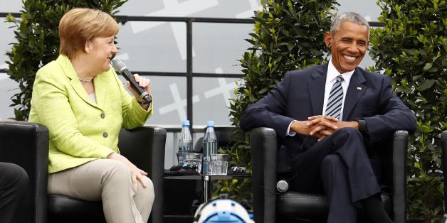 Als Merkel beim Kirchentag ausgebuht wird, tritt Obama für sie ein