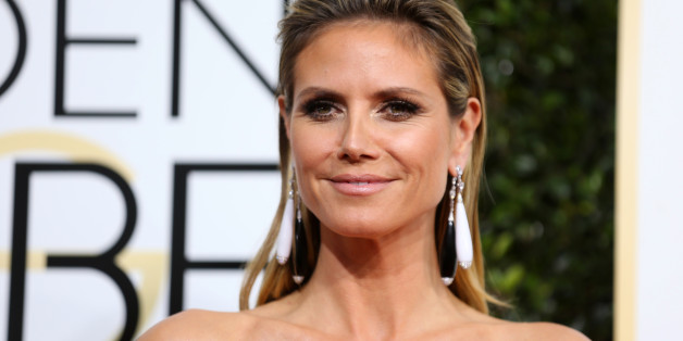 Televison personality Heidi Klum arrives at the 74th Annual Golden Globe Awards in Beverly Hills, California, U.S., January 8, 2017.  REUTERS/Mike Blake