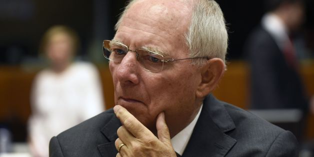 German Finance Minister Wolfgang Schauble looks on before a session of the Economic and Financial Affairs, Council (Ecofin) with EU finance ministers on May 23, 2017 at the EU headquarters in Brussels.  / AFP PHOTO / JOHN THYS        (Photo credit should read JOHN THYS/AFP/Getty Images)