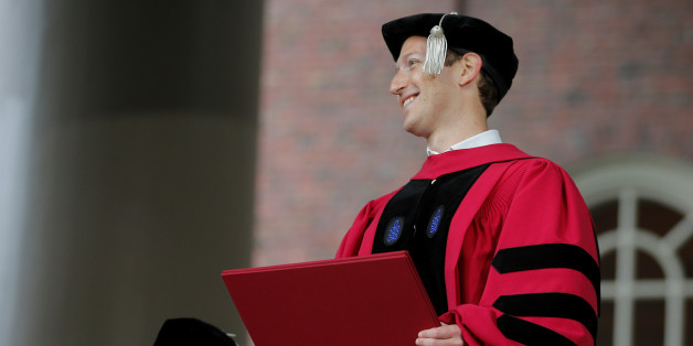 Facebook founder Mark Zuckerberg holds his honorary Doctor of Laws degree during the 366th Commencement Exercises at Harvard University in Cambridge, Massachusetts, U.S., May 25, 2017.   REUTERS/Brian Snyder