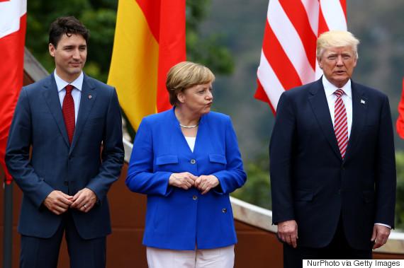 g7 trump trudeau merkel