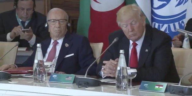 Während der G7-Rede von Italiens Ministerpräsident zeigt Trump sein ganzes Desinteresse