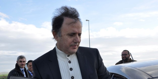 The son-in-law of Tunisia's ousted autocrat Zine El Abidine Ben Ali, businessman Slim Chiboub gets in his car as he leaves Mornaguia prison after being released from prison on January 12, 2016 outside Tunis.   / AFP / MOHAMED KHALIL        (Photo credit should read MOHAMED KHALIL/AFP/Getty Images)