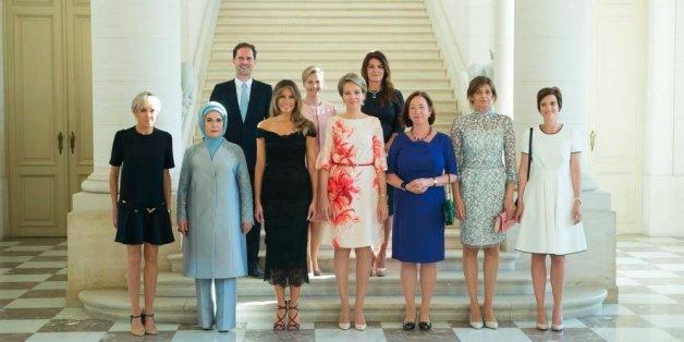 Xavier Bettels Ehemann durfte zwar mit aufs Foto - seinen Namen unterschlug das Weiße Haus allerdings kurzerhand.