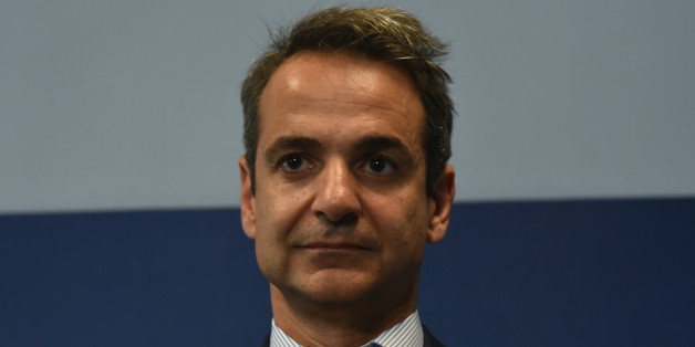 Leader of Opposition and New Democracy (Nea Dimokratia), Kyriakos Mitsotakis at the opening of the re founded Youth Organisation of New Democracy ONNED, in Athens on May 6, 2017 (Photo by Wassilios Aswestopoulos/NurPhoto via Getty Images)